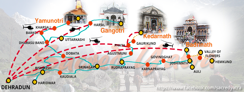 Char Dham Yatra Map Char Dham Yatra Route Map   CharDham Road Route with Distances